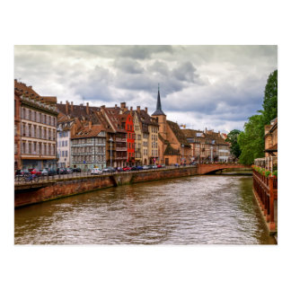 Saint-Nicolas dock in Strasbourg, France Postcard