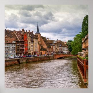 Saint-Nicolas dock in Strasbourg, France Poster