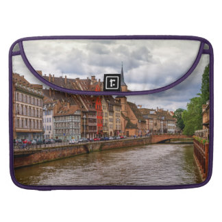 Saint-Nicolas dock in Strasbourg, France Sleeve For MacBooks