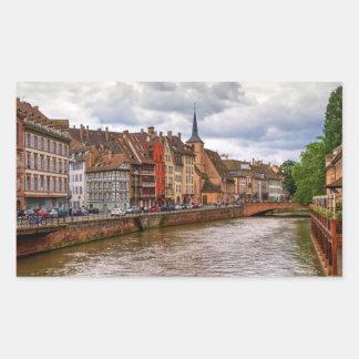 Saint-Nicolas dock in Strasbourg, France Sticker