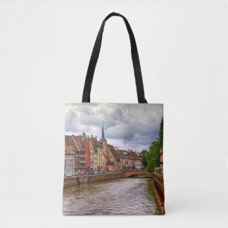 Saint-Nicolas dock in Strasbourg, France Tote Bag