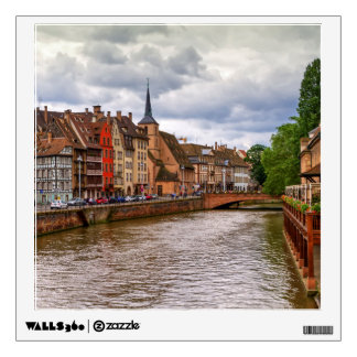 Saint-Nicolas dock in Strasbourg, France Wall Decal
