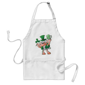 Saint Paddy's Day Sheep Drinking Beer Standard Apron