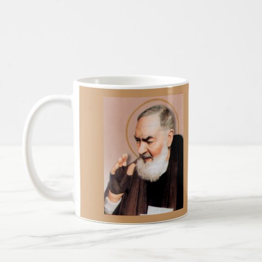 Saint Padre Pio, Catholic Mystic Coffee Mug