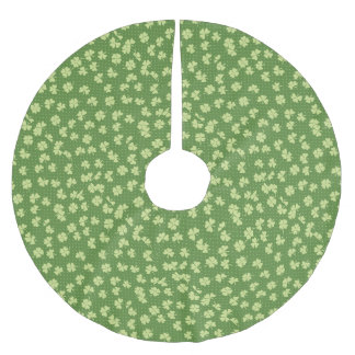 Saint Partrick's Day Shamrocks Brushed Polyester Tree Skirt
