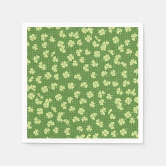 Saint Partrick's Day Shamrocks Disposable Napkins