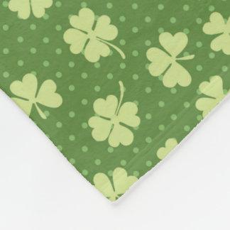 Saint Partrick's Day Shamrocks Fleece Blanket