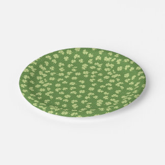 Saint Partrick's Day Shamrocks Paper Plate
