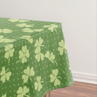 Saint Partrick's Day Shamrocks Tablecloth
