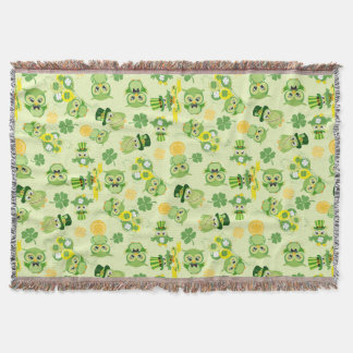 Saint Partrick's Day Shamrocks Throw Blanket