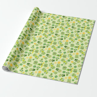 Saint Partrick's Day Shamrocks Wrapping Paper