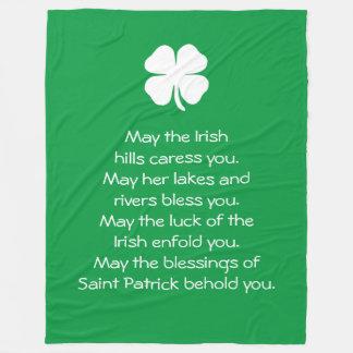 Saint Patrick Blessings Fleece Blanket