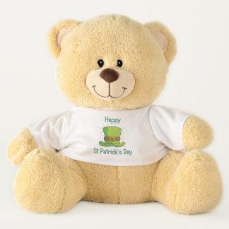 Saint Patrick Day Irish Green Top Hat Teddy Bear