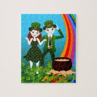 Saint Patrick Day Kids Party Puzzles