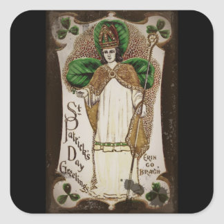 "Saint Patrick ""Erin Go Bragh"" Square Sticker"