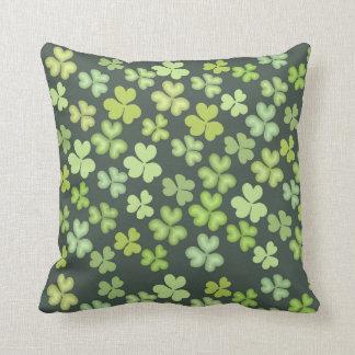 Saint Patrick Leaves 2 Throw Pillow