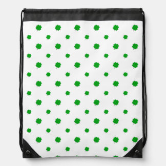 Saint Patrick Motif Pattern Drawstring Bag