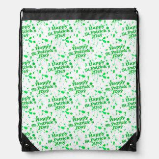 Saint Patrick Motif Pattern Drawstring Bag