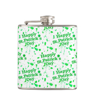 Saint Patrick Motif Pattern Hip Flask