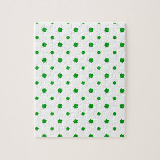 Saint Patrick Motif Pattern Jigsaw Puzzle