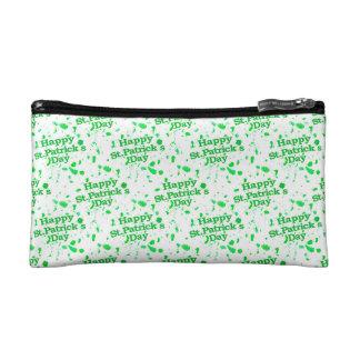 Saint Patrick Motif Pattern Makeup Bags