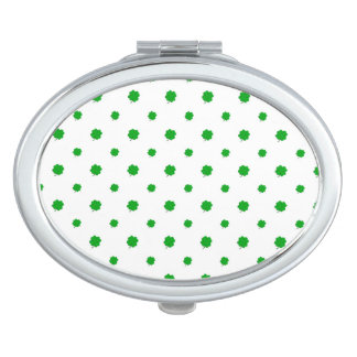Saint Patrick Motif Pattern Makeup Mirror