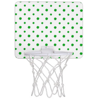 Saint Patrick Motif Pattern Mini Basketball Hoop