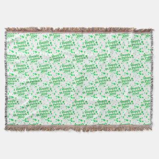 Saint Patrick Motif Pattern Throw Blanket