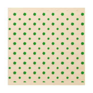 Saint Patrick Motif Pattern Wood Wall Art