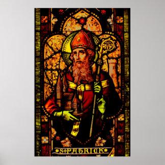 Saint Patrick - portrait Posters