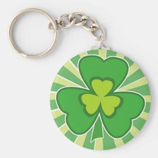 saint patrick s day basic round button keychain