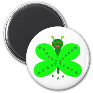 Saint Patrick s Day Butterfly Magnet