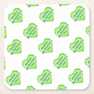 Saint Patrick´s Day Desgin Square Paper Coaster