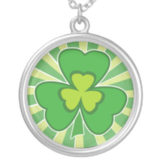 saint patrick s day silver plated necklace