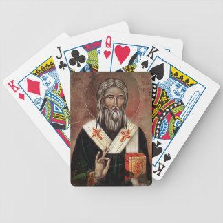 Saint Patrick with Raised Hand Poker Deck