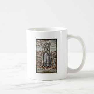 Saint Patrick with Snakes at His Feet Coffee Mug