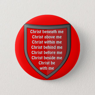 Saint Patrick's breastplate prayer button