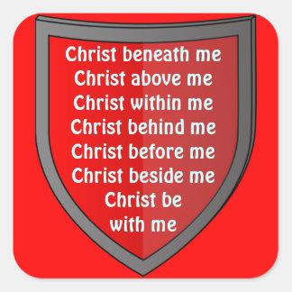 Saint Patrick's breastplate prayer stickers