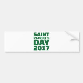 Saint Patricks day 2017 Bumper Sticker