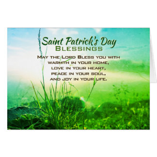 Saint Patrick's Day Blessings, Irish Prayer Card