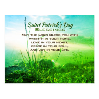 Saint Patrick's Day Blessings, Irish Prayer Postcard