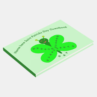 Saint Patricks Day Butterfly Guestbook