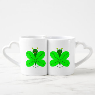 Saint Patrick's Day Butterfly Lovers Mugs