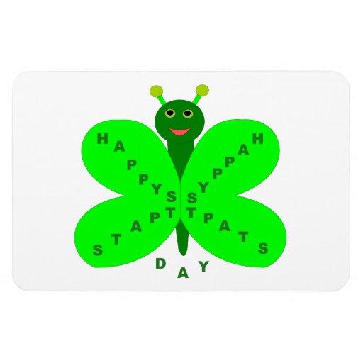 Saint Patricks Day Butterfly Magnet