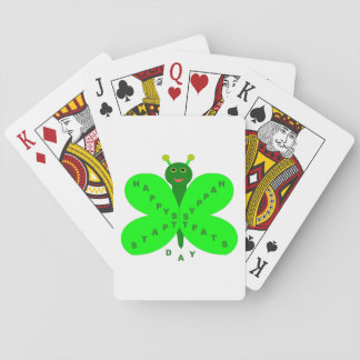 Saint Patrick's Day Butterfly Playing cards