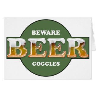 Saint Patrick's Day Card - Beware Beer Googles