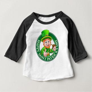 Saint Patricks Day Cartoon Leprechaun Sign Baby T-Shirt
