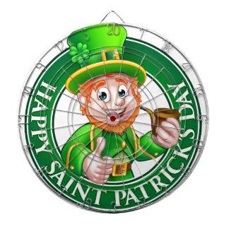 Saint Patricks Day Cartoon Leprechaun Sign Dart Boards
