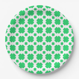 Saint Patrick's Day Clover Patterned 9 Inch Paper Plate