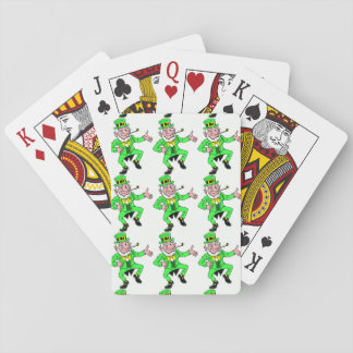 Saint Patrick's Day Dancing Leprechauns Pattern Poker Deck